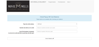 Movie Mills gift card balance check