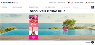 Air France Belgium gift card purchase