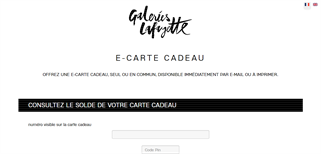 Galeries Lafayette gift card balance check