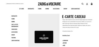 Zadig & Voltaire gift card purchase