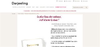 Darjeeling gift card purchase