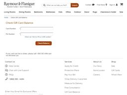 Raymour & Flanigan gift card balance check