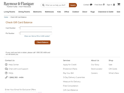 Raymour & Flanigan gift card purchase