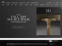 Restoration Hardware shopping