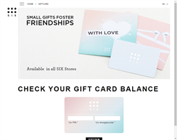 Click Six gift card balance check