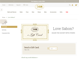 Sabon NYC gift card balance check