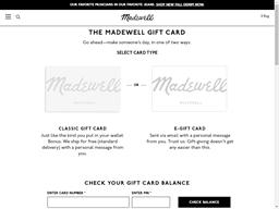 Madewell gift card balance check