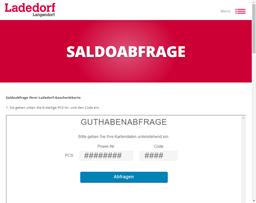Ladedorf gift card balance check