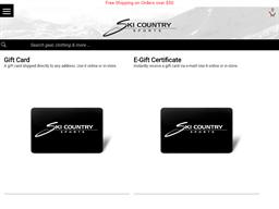 Ski Country Sports gift card balance check