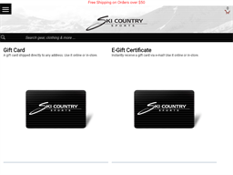 Ski Country Sports gift card purchase
