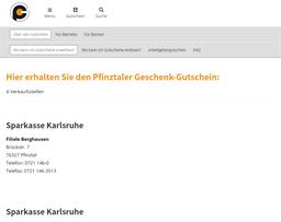 Pfinztal Gutschein gift card purchase