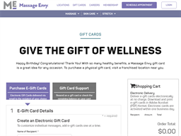 Massage Envy gift card purchase