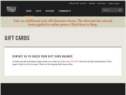 Mast General Store gift card balance check