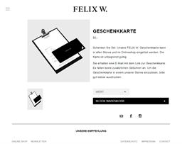 Felix W. gift card purchase