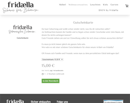 fridælla gift card purchase