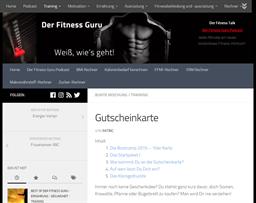 Der Fitness Guru gift card purchase