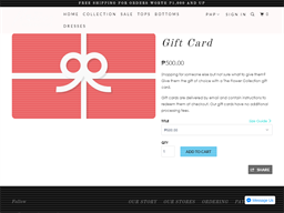 The Flower Collection gift card purchase