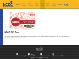 NCCC Supermarket gift card purchase