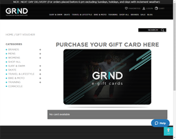 Grind gift card purchase