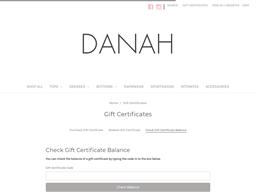 DANAH gift card balance check