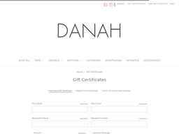 DANAH gift card purchase