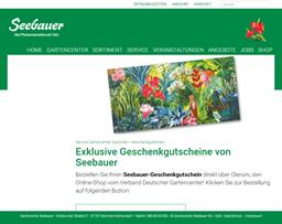 Gartencenter Seebauer gift card purchase