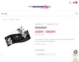 Naschwerk gift card purchase