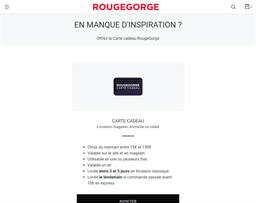RougeGorge gift card purchase