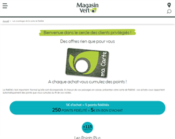 Magasin Point Vert gift card purchase