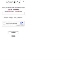 Louis Pion gift card balance check