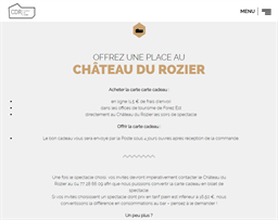 Château du Rozier gift card purchase