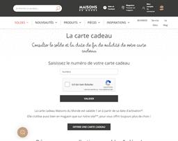 Maisons du Monde gift card balance check