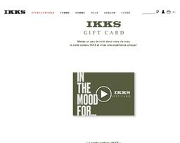 IKKS gift card purchase