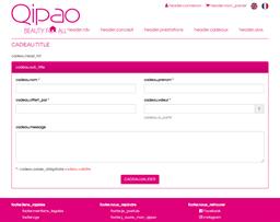Qipao gift card purchase