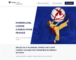 PaperPlane AirFrance gift card purchase