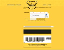 De Beren gift card balance check