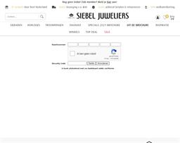Siebel Juweliers gift card balance check