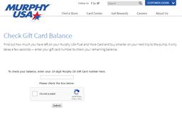 Murphy USA gift card balance check