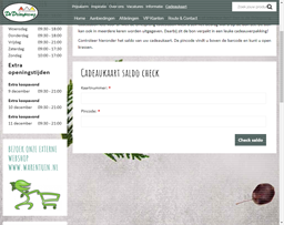 Tuincentrum de Driesprong gift card balance check
