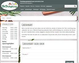 Tuincentrum de Driesprong gift card purchase