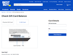 Best Buy gift card balance check