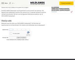 Wildlands gift card balance check