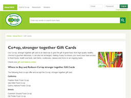 National Co+op Grocers gift card purchase