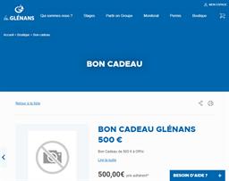 Les Glénans gift card purchase