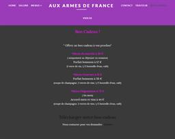 Aux Armes de France gift card purchase