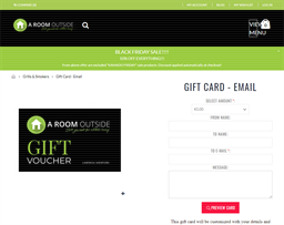 A Room Outside gift card purchase