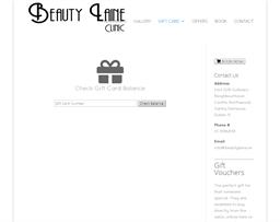 Beauty Laine Clinic gift card balance check