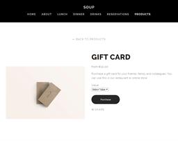 Soup Ramen gift card purchase