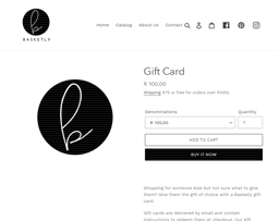 Basketly gift card purchase