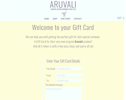 Aruvali Designs gift card purchase